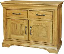 French solid oak furniture small storage living dining room sideboard