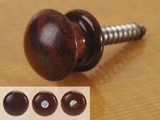 Acoustic Guitar strap button, cocobolo, pearl dot - free postage