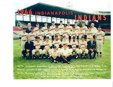 1966 INDIANAPOLIS INDIANS 8X10 TEAM PHOTO  BASEBALL HACKER MAHONEY BEARD