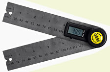 """5"""" Digital Angle Finder Rule General Tool #822 Stainless LCD"""