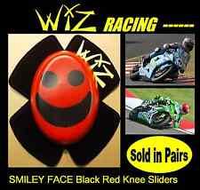 WIZ KNEE SLIDERS SMILEY FACE BLACK RED