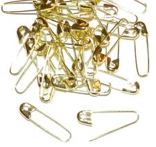 "SP111 Gold 1-1/8"" Coiless French Safety Pin For Beads, Crafts & Jewelry 35pc"
