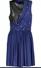 Versus Versace Black & Blue Embellished Dress RRP £500 Sz 40 UK 10  Bnwt
