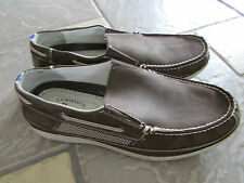 BASS STARBOARD BOAT SHOES DECK SHOES BROWN LEATHER MENS 10 SLIP ONS LOAFERS