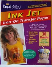 """Royal Brites Ink Jet Iron-On Transfer Paper 30 Count 8 1/2""""  X 11"""""""