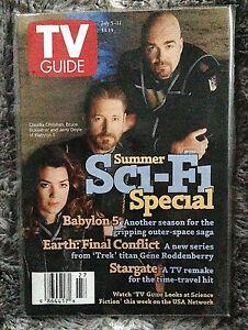 BABYLON 5 - TV GUIDE July 5-11, 1997 – SciFi - Stargate, Earth: Final Conflict