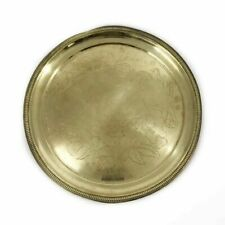 Antique Victorian Brass Serving Tray Old Queen Victoria Jubilee 1887