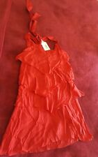 Red BOHO mini dress sz 8/10 perfect for Christmas