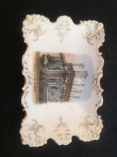 """Vintage Small rectangular trinket dish """"A Corner Of The Stadium"""" Made in Germany"""