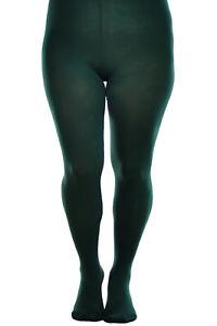 Plus size opaque plain pantyhose tights 12 Colors