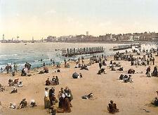 Vintage Edwardian Seaside Photochrome Photo Reprint Scarborough 3 A4