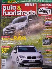 Auto & Fuoristrada n°9 2009 Toyota RAV 4 BMW X1 Pajero Sport Nissan Navara [P39]