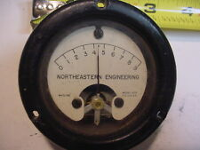 NE Engr 100uA Sealed Panel Meter wt odd Scale 0-9 Center Zero at 4.5, Model ADD