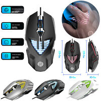 Game Mouse USB Wired 3200DPI Mice Adjustable Colorful Lighting Desktop Laptop