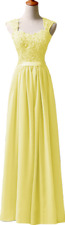 New Long Chiffon Prom Dress Bridesmaid Formal Evening Party Ball Gown Stock 6-26