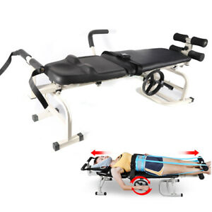 NEW Cervical Spine Lumbar Stretch Device Traction Bed Therapy Massage Table USA