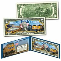 UNION PACIFIC Train Company GE Locomotive Railroad U.S. $2 Bill - WORLDS LARGEST
