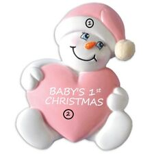 GRANDDAUGHTER BABY GIRL'S FIRST CHRISTMAS PERSONALIZED CHRISTMAS TREE ORNAMENT