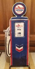 Chevron Gas Pump Embossed Metal Petroleum Motor Oil Gasoline American Mobil