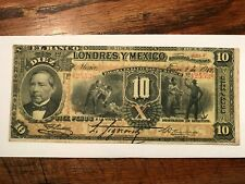 1912 El Banco de Londres y Mexico VF+ #18665