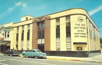 c1950s THE OLD NATIONAL BANK of Martinsburg WV Vintage Automobiles postcard A11