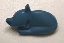 "Tiny Blue SLEEPING KITTY CAT Realistic Goofy Modern Button 5/8"""