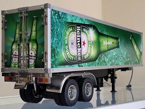 Custom Toy Tamiya 1/14 Heineken 2-Axle Trailer +Motorized Support Leg +Light Kit