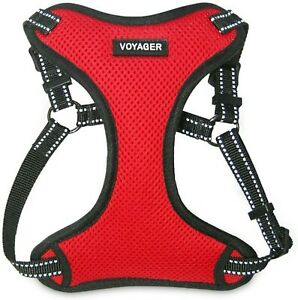XS Red Voyager Reflective Step-In Flex Dog Harness All Weather Mesh NWT