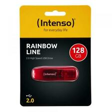 Intenso USB Stick 128GB Speicherstick Rainbow Line rot
