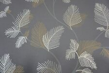 Cole & Son Wallpaper The Waldorf Collection FERN TREE Charcoal/Gold and Silver