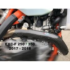 KTM EXCF 350  17-19 PRO CARBON  EXHAUST GUARD COVER FOR STANDARD HEADER