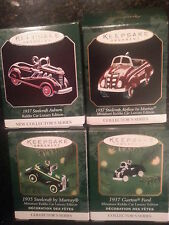 Hallmark Ornaments - Miniature Kiddie Car Luxury Edition Complete Series #1 - #4