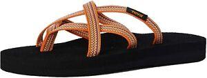 Teva Women's Olowahu Open Back Slippers Orange Antiguous Sunflower UK 10 / EU 43