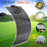 Elfeland 80W 12V Flexible Solar Panel Monocrystalline Battery Charger Car Boat