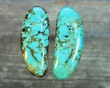 Turquoise cabochon Kingman  mine cab Earring set  Unique  ,B-6