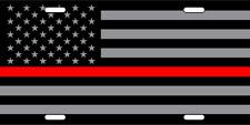RED LIVES MATTER FIREFIGHTER METAL NOVELTY LICENSE PLATE AMERCAN FLAG