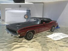1/24 Franklin Mint Red 1970 Plymouth AAR Cuda Serial # 22 of 500