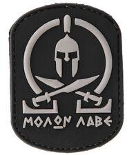 AC-110C: TACTICAL MORALE MOLON LABE Sparta PATCH (BLACK) (No tracking #)