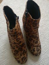 Botas estampado de leopardo, talla 5/38, Excelente Estado