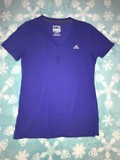 Women's Adidas V-neck Ultimate Tee Shirt Purple Size Medium Climalite