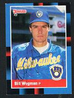 Bill Wegman #151 signed autograph auto 1988 Donruss Baseball Trading Card
