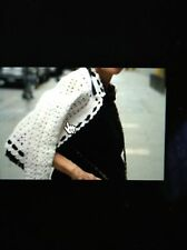 Chanel 05P MOST WANTED NEW Crochet Tweed Lace White Black Jacket CC buttons FR42