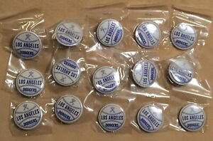 1960's Los Angeles Dodgers Vtg 15 Button lot No Pinback Post Brooklyn Beautiful