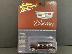 Johnny Lightning Cadillac Hearse 1959 Maroon JLSP113 1/64