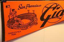 "1970's San Francisco Giants Candlestick Park Orange 30"" Pennant Full Size MLB"