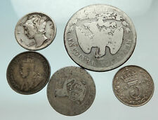 Group Lot of 5 Old Silver Europe or Other World Coins for your Collection i75643