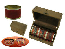 Set of 3 Russian Silver and Enamel Napkin Rings 1890
