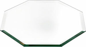 Plymor Octagon 5mm Beveled Glass Mirror, 10 inch x 10 inch (Pack of 4)