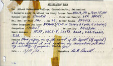 LEE HARVEY OSWALD Signed Application Form - John F Kennedy link - Preprint