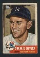 1953 Topps #242 Charlie Silvera GVG Yankees 88088